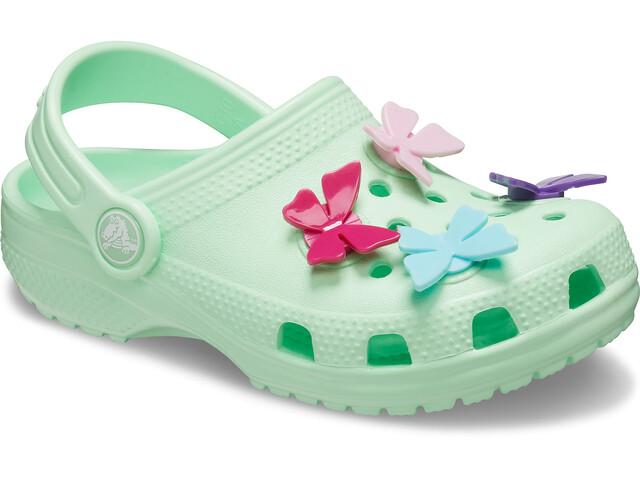 Crocs Classic Bttrfly Charm Prescool Crocs Fille, neo mint